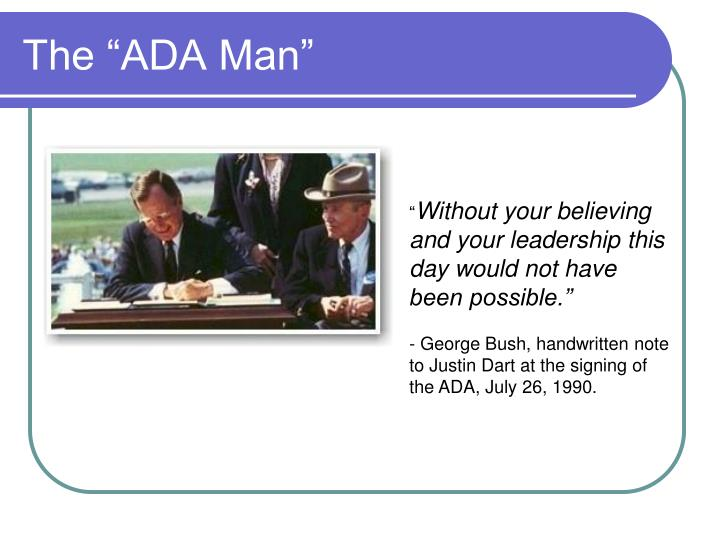 "The ""ADA Man"""