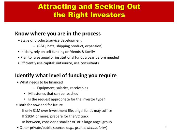 Attracting and Seeking Out