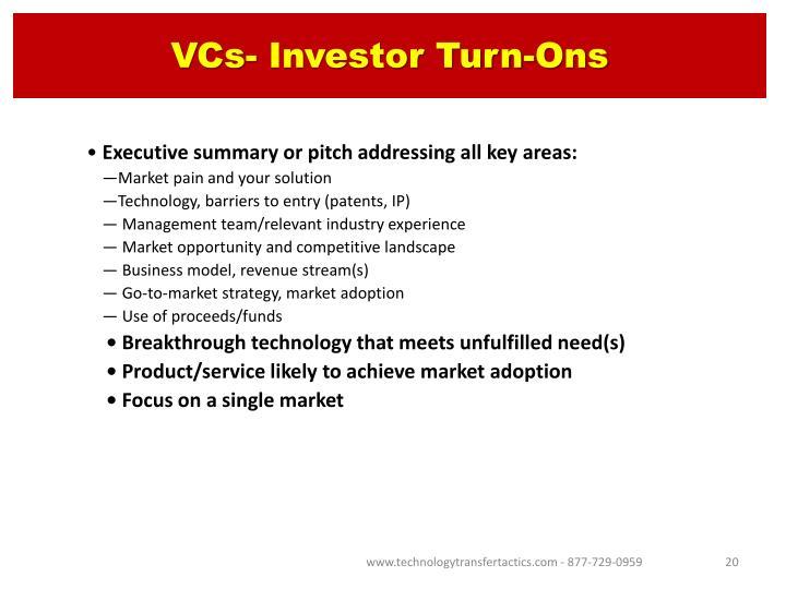 VCs- Investor Turn-