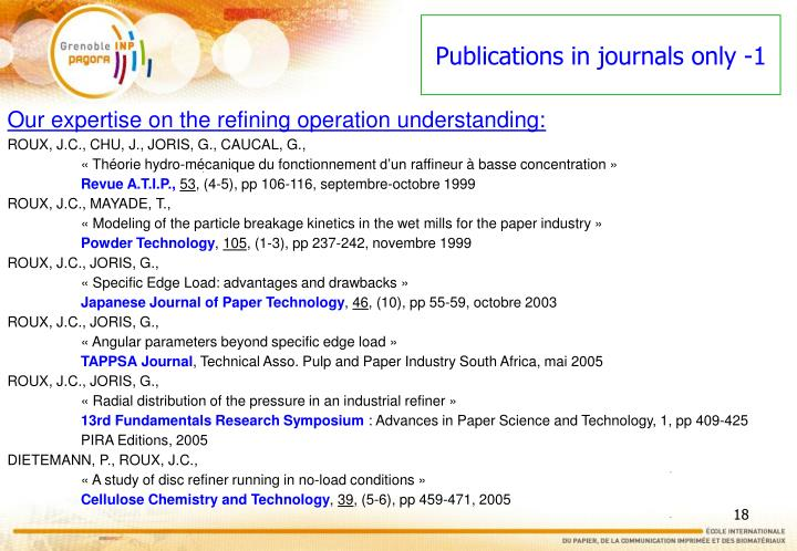 Publications in journals only -1