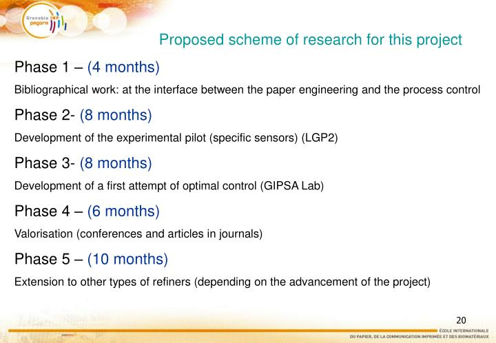 Proposed scheme of research for this project