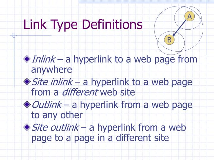 Link Type Definitions