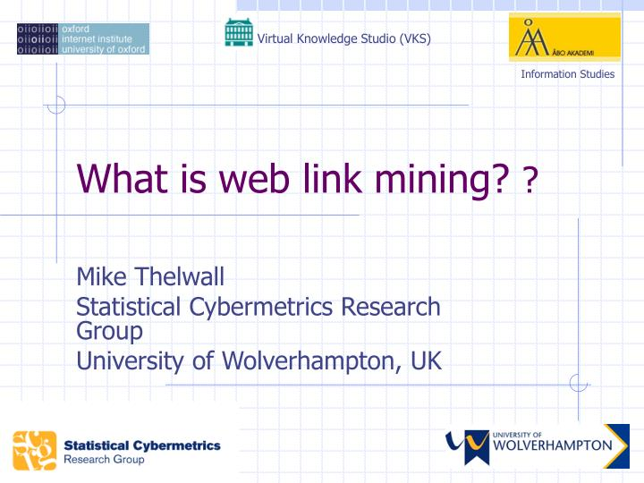 What is web link mining