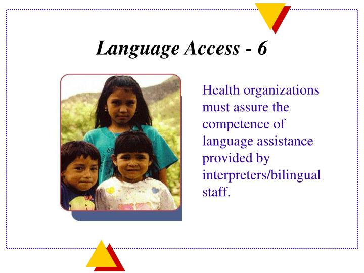 Language Access - 6