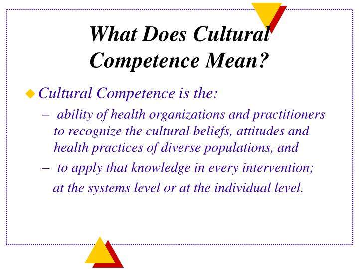 What Does Cultural Competence Mean?