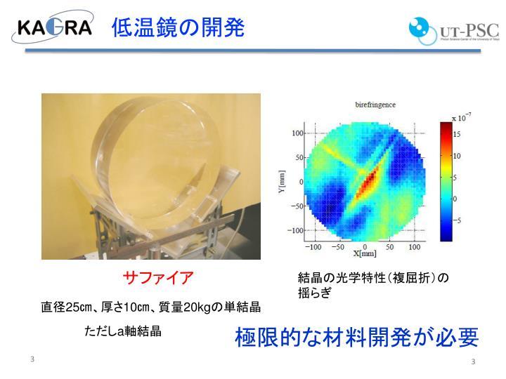 低温鏡の開発