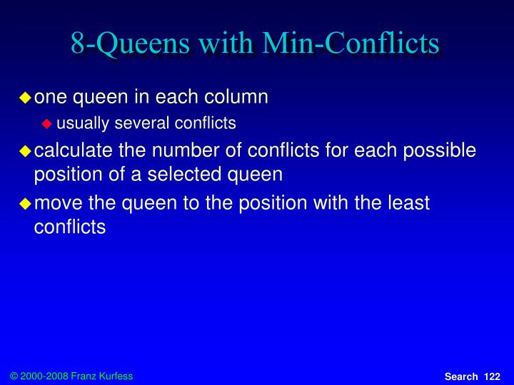 8-Queens with Min-Conflicts