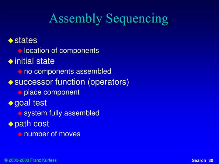 Assembly Sequencing