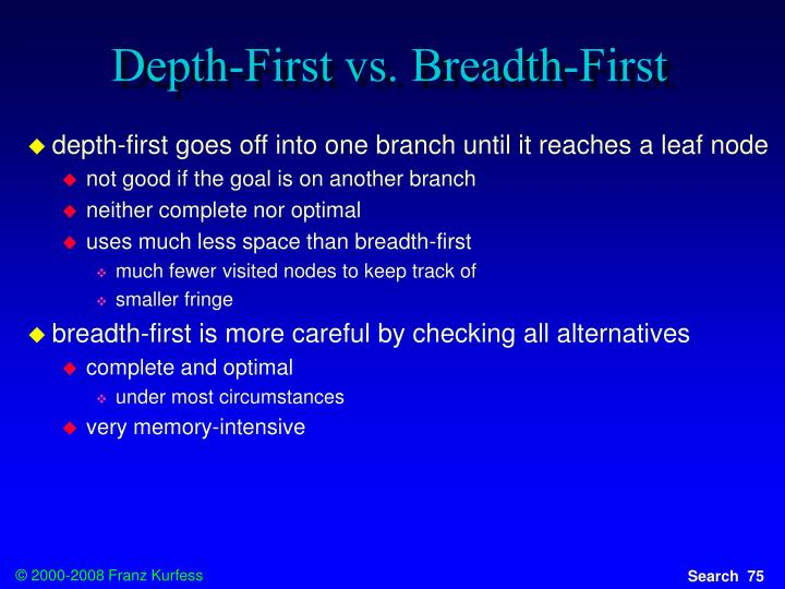 Depth-First vs. Breadth-First