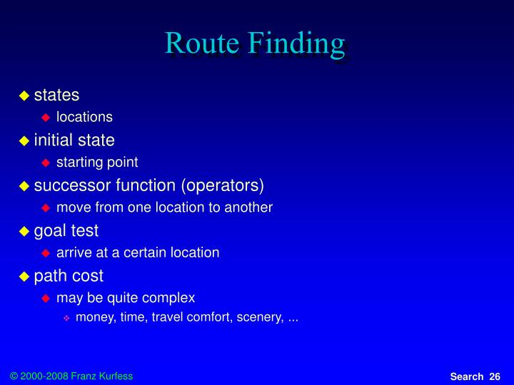 Route Finding