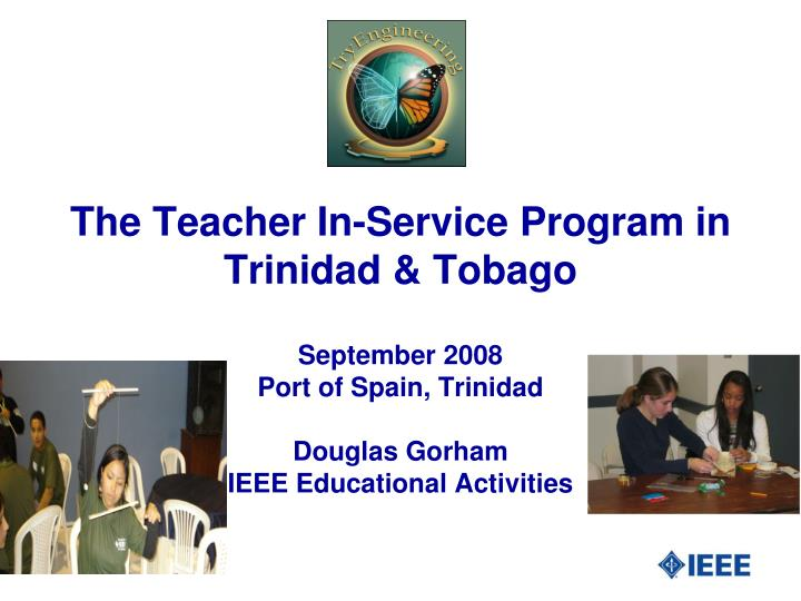 The teacher in service program in trinidad tobago