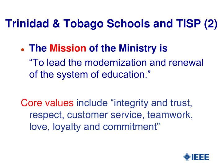 Trinidad & Tobago Schools and TISP (2)