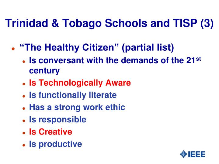 Trinidad & Tobago Schools and TISP (3)