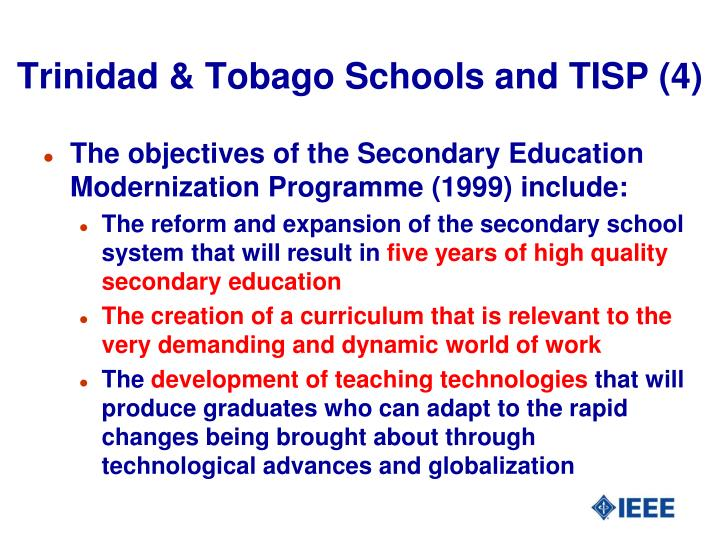 Trinidad & Tobago Schools and TISP (4)