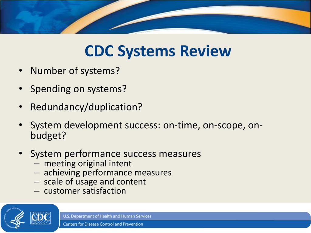 PPT - State of CDC's Systems Portfolio and New Imperatives