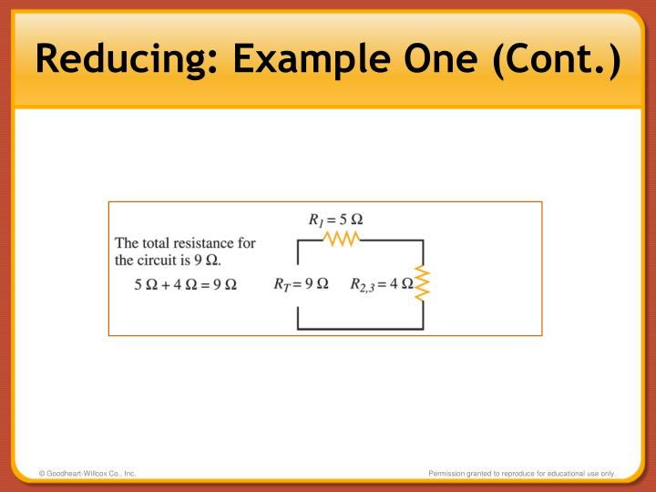 Reducing: Example One (Cont.)