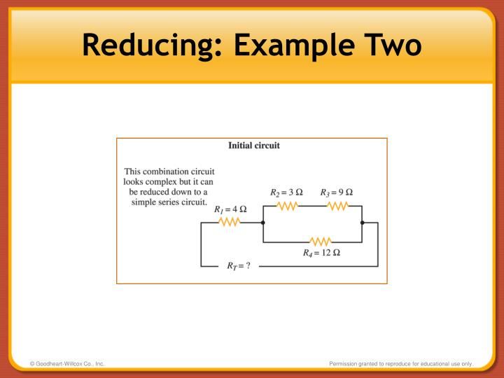 Reducing: Example Two