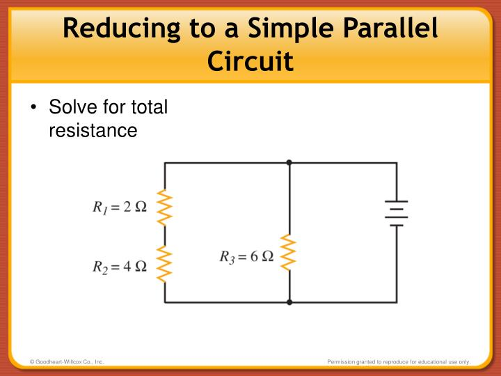 Reducing to a Simple Parallel Circuit