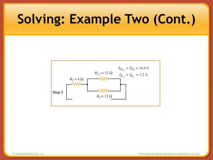 Solving: Example Two (Cont.)