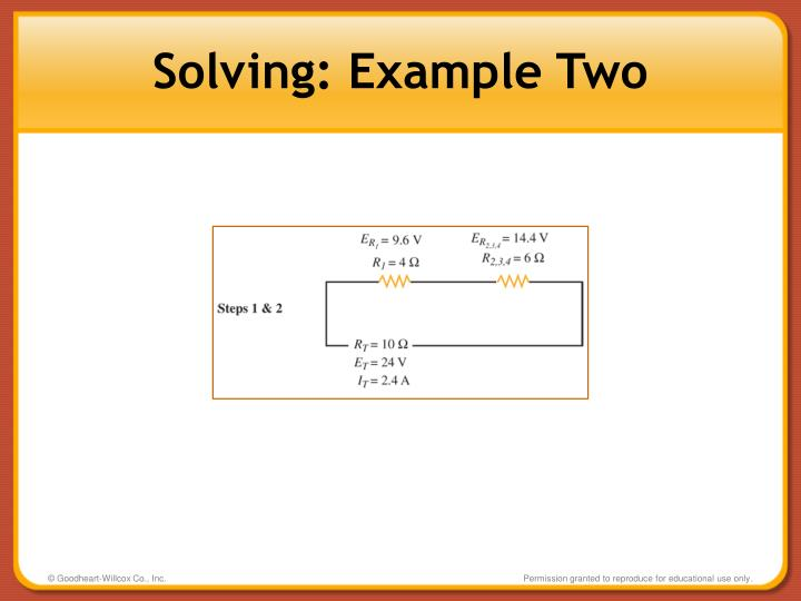 Solving: Example Two