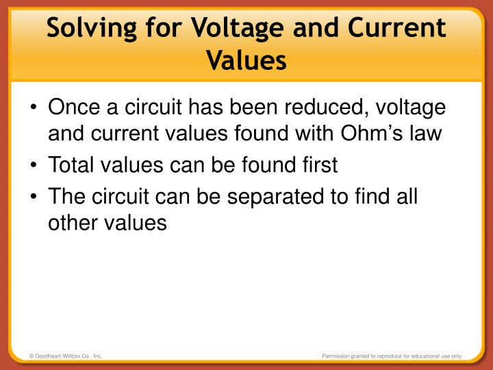 Solving for Voltage and Current Values