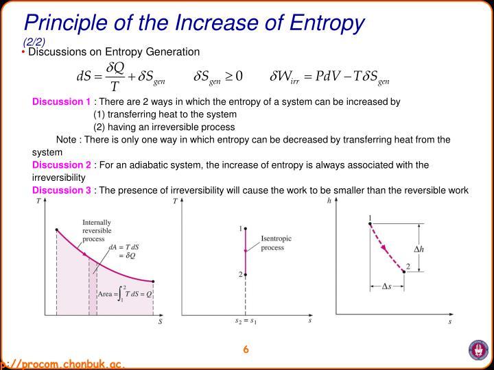 Principle of the Increase of Entropy