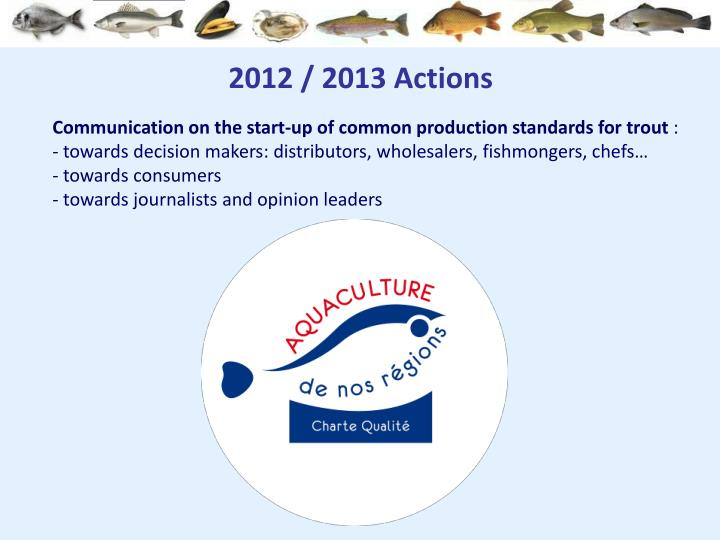 2012 / 2013 Actions