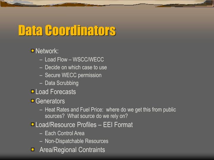 Data Coordinators