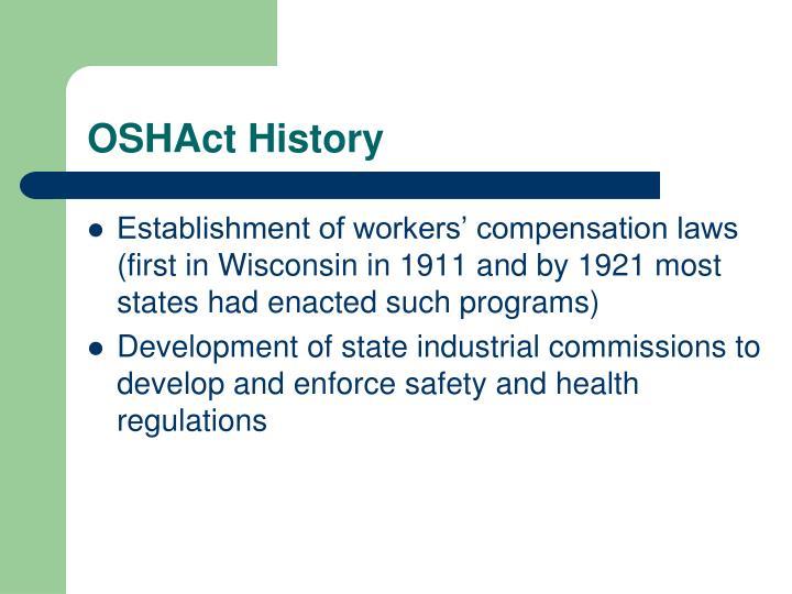 OSHAct History