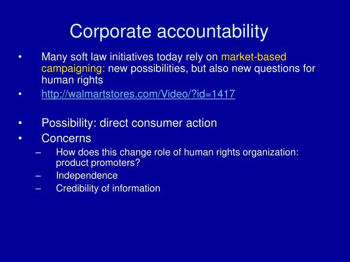 Corporate accountability1