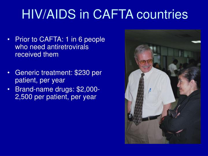 HIV/AIDS in CAFTA countries