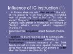 influence of ic instruction 1