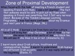 zone of proximal development