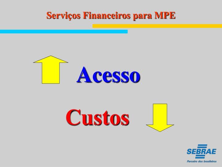 Serviços Financeiros para MPE