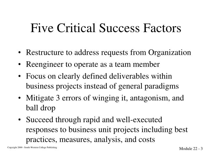 Five Critical Success Factors