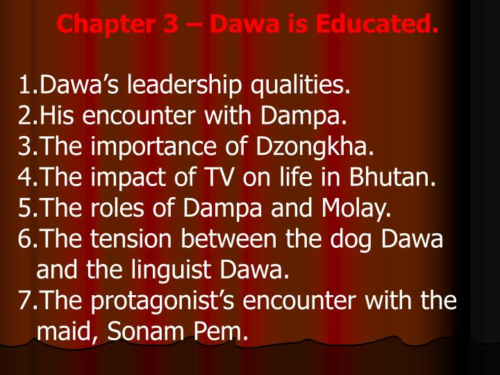 Chapter 3 – Dawa is Educated.