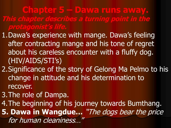 Chapter 5 – Dawa runs away.