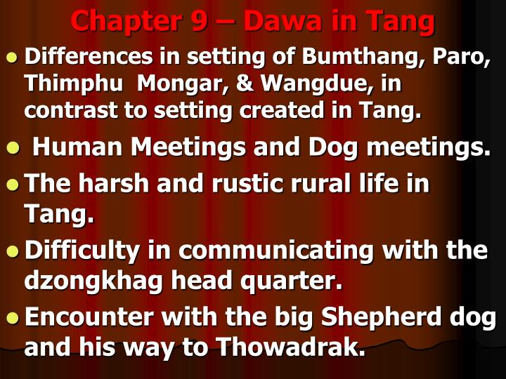 Chapter 9 – Dawa in Tang