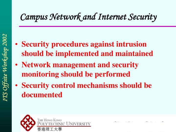 Campus Network and Internet Security