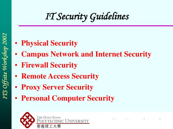 IT Security Guidelines