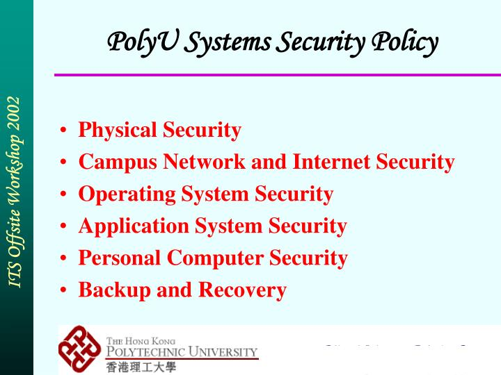 PolyU Systems Security Policy
