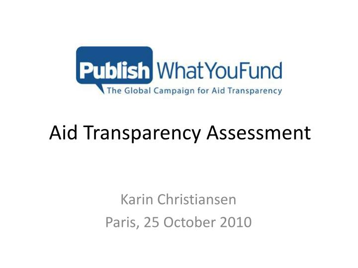 aid transparency assessment n.