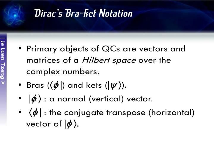 Dirac's Bra-ket Notation