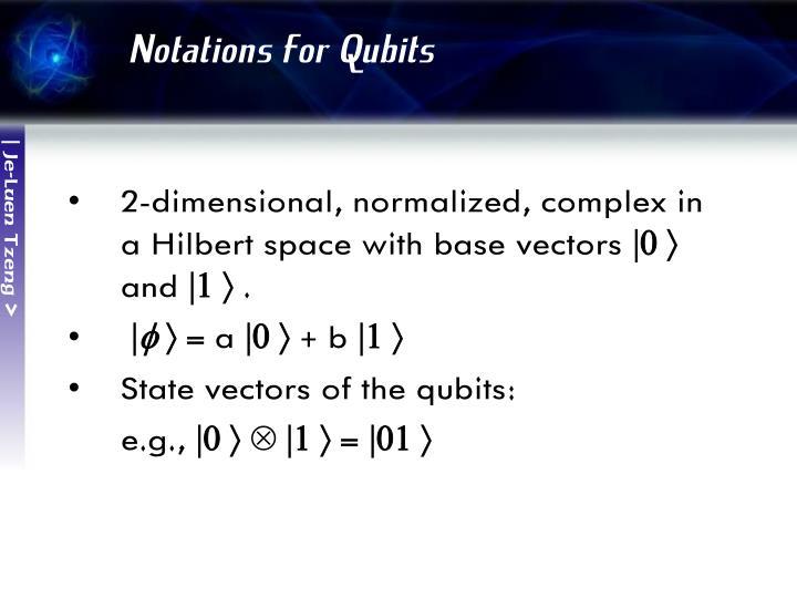 Notations for Qubits