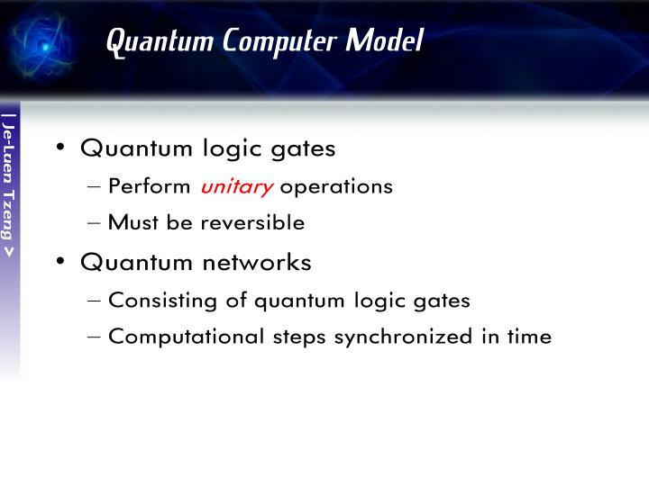 Quantum Computer Model