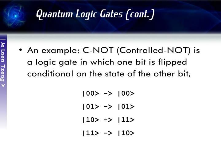 Quantum Logic Gates (cont.)