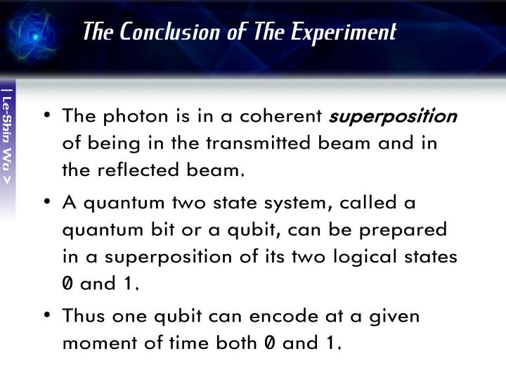 The Conclusion of The Experiment