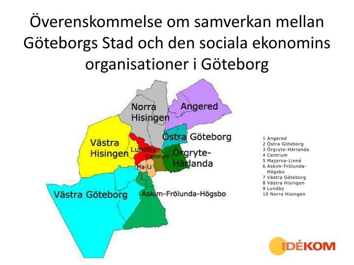 Överenskommelse om samverkan mellan Göteborgs Stad och den sociala ekonomins organisationer i Göt...