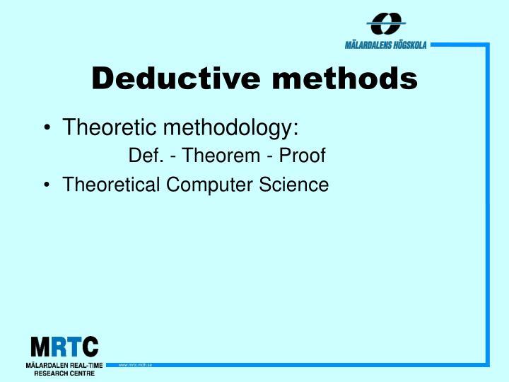 Deductive methods