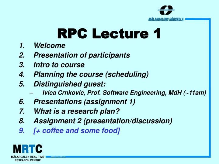 Rpc lecture 1